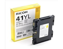 Ricoh GC41YL (Yield: 600 Pages) Light User Yellow Gel Ink Cartridge