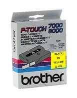 Brother P-touch TX-631 (12mm x 15m) Black On Yellow Labelling Tape