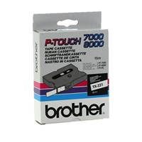 Brother P-touch TX-221 (6mm x 15m) Black On White Labelling Tape