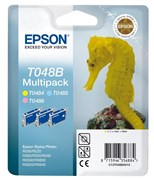 Epson T048B Ink Cartridge Colour Triple Pack (Light Cyan/Light Magenta/Yellow)
