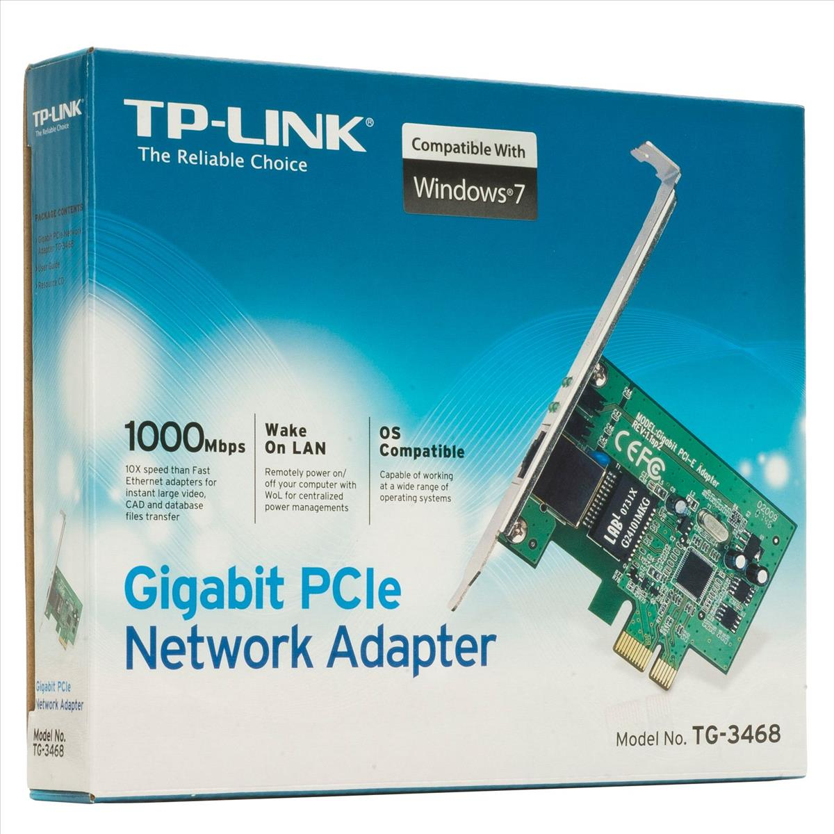 TP-Link TG-3468 PCI Express Gigabit Ethernet - TG-3468 | CCL Computers