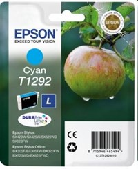 Epson T1292 (Yield 690 pages) Cyan 7ml Ink Cartridge (RF Tag) for BX305F/BX320FW/BX525WD/BX625FWD/SX420W