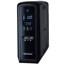 CyberPower PFC Sinewave 170-270VAC 50/60Hz 900W 1500VA IEC/UK Plug LCD Screen UPS with Elaborate Power Management Software (Black)