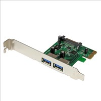 StarTech.com 2 Port PCI Express (PCIe) SuperSpeed USB 3.0 Card Adaptor with UASP - SATA Power