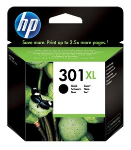 HP 301XL (Yield: 480 Pages) Black Ink Cartridge