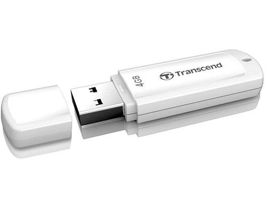 Transcend JetFlash 370 4GB USB 2.0 Drive (White)