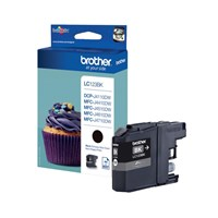 Brother LC123BK (Yield: 600 Pages) Black Ink Cartridge