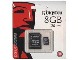 Kingston   8GB Class 4 microSD Card & Adaptor