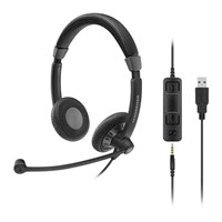 Sennheiser Culture Plus Mobile SC 75 USB CTRL Double Sided Wired Headset with Noise Cancelling Microphone
