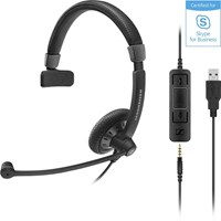 Sennheiser Culture Plus Mobile SC 75 USB MS Binaural Double Sided Wired Headset with Noise Cancelling Microphone