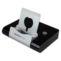 StarTech.com 3 Port USB 3.0 Hub plus Combo Fast-Charge Port (2.1A) with Smartphone / Tablet Stand - Black