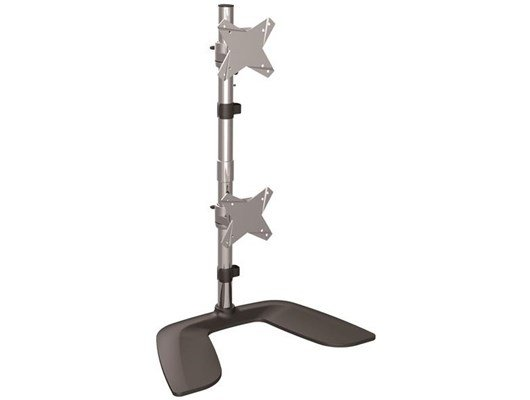 StarTech.com Vertical Dual-Monitor Stand (Silver/Black)