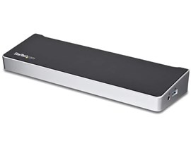 StarTech.com Triple-4K Monitor USB-C Docking Station for Laptops (Black/Silver)