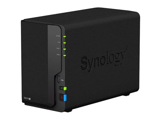Synology DiskStation DS218+ 2-Bay Desktop NAS Server with 4K Video Transcoding and 20TB (2 x 10TB) WD RED Hard Drives