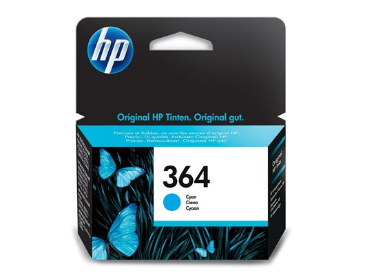 HP 364 (Yield: 300 Pages) Cyan Ink Cartridge