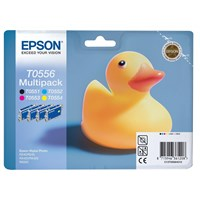 Epson T0556 Multi 4 Pack Ink Cartridges (Black/Cyan/Magenta/Yellow)