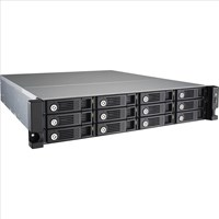 QNAP TS-1253U-RP Rack 12-Bay Network Attached Storage (NAS) Celeron (2.0GHz) 4GB QTS 4.1 LAN/USB/HDMI (Black)
