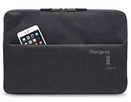Targus 360 Perimeter Laptop Padded Sleeve (Ebony) Fits up to 15.6 inch Laptops