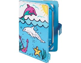 Techair Doodle Case (Dolphins) for 7 inch to 8 inch Universal Tablets