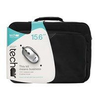Bundle: Techair Netbook Case (Black) for 15.6 inch Netbook and 800 dpi Optical Mouse (Black/Silver)