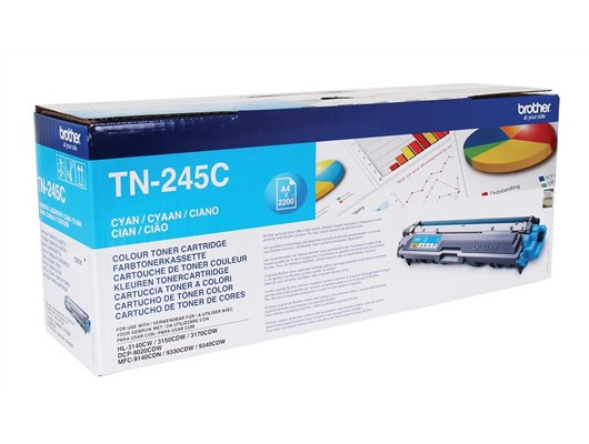 Brother TN245C Cyan Toner (2200 Pages)