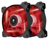 Corsair Air Series SP120 High Static Pressure Fan (120mm) with Red LED (Twin Pack)