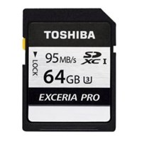 Toshiba (64GB) Exceria Pro N401 SD Flash Card USH Speed 3 Speed Class 10