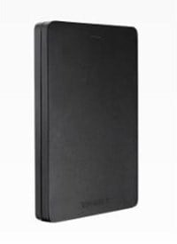 Toshiba Canvio Alu 1TB Mobile External Hard Drive in Black - USB3.0