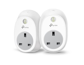 TP-Link HS100 Kasa Smart Wi-Fi Plug 2.4GHz 802.11b/g/n (White) Pack of 2