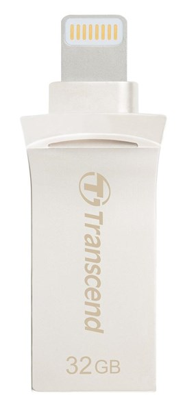 Transcend JetDrive Go 500 (32GB) USB 3.1/Lighting Flash Drive (Silver)