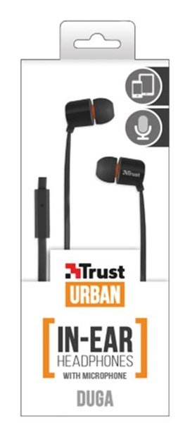 Trust Duga In-Ear Headphones with Microphone (Black)