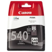 Canon PG-540BK (Black) Ink Cartridge (Yield 180 Pages)