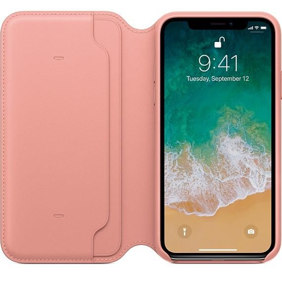 separation shoes a1689 6901a Apple Leather Folio Case (Soft Pink) for iPhone X - MRGF2ZM/A | CCL ...