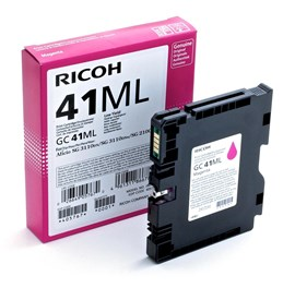 Ricoh GC41ML (Yield: 600 Pages) Light User Magenta Gel Ink Cartridge