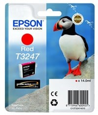 Epson Puffin T3247 (14ml) Ultrachrome Hi-Gloss2 Red Ink Cartridge for SureColor SC-P400 Printer