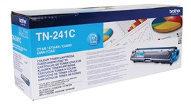 Brother TN-241C (Yield: 1,400 Pages) Cyan Toner Cartridge
