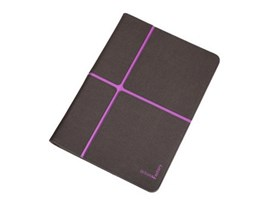 Urban Factory Universal Folio Case (Dark Grey/Purple) for 10 inch Tablets