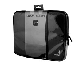 Urban Factory Crazy Sleeve Vinyl (Black) for 16 inch Laptops