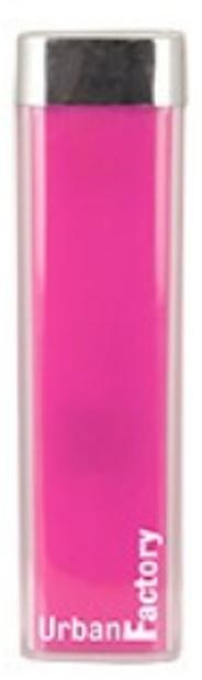 Urban Factory Lipstick (2600mAh) Portable Battery Charger (Pink)