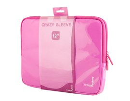 Urban Factory Crazy Sleeve Vinyl (Fuchsia) for 12 inch Laptops