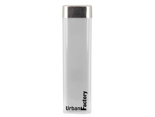 Urban Factory Lipstick (2600mAh) Portable Battery Charger (White)