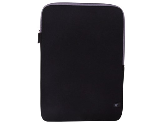 V7 Ultra Protective Sleeve (Black with Grey Interior) for 13.3 inch Ultrabook and up to 13.3 inch Notebooks