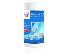 V7 Cleaning Wipes Tub for TFT/LCD