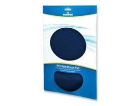 Manhattan Ergonomic Gel Mouse Pad with Wrist Rest (Blue)