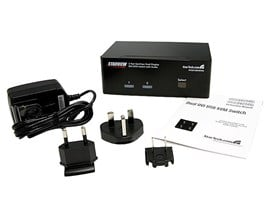 StarTech.com 2 Port Dual DVI USB KVM Switch with Audio and USB 2.0 Hub