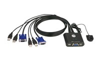Aten CS22U 2-Port USB Cable KVM Switch (Black)