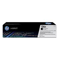HP 126A Black ColorSphere Print Cartridge (Yield 1200 Pages)