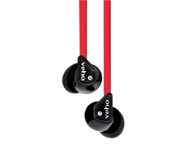 Veho Z-1 Stereo Anti-Tangle In-Ear Headphones earphones earbuds (Red)