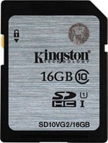 Kingston (16GB) SDXC Flash Card Class 10 UHS-1 45MB/s Read