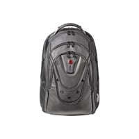 Wenger Ibex Polyester/Leather Backpack (Black) for 17 inch Laptops